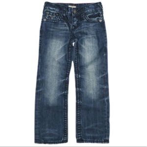 TRUE RELIGION Geno Relax Slim Raw Jeans Boys Sz 7Y